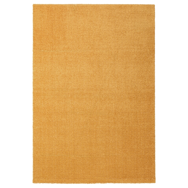 """LANGSTED Rug, low pile, yellow, 4 ' 4 """"x6 ' 5 """""""