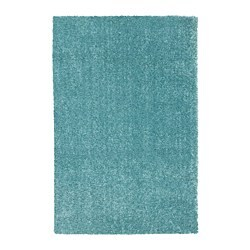 LANGSTED rug, low pile, turquoise