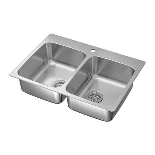 Outstanding Langudden Double Bowl Top Mount Sink Stainless Steel Download Free Architecture Designs Momecebritishbridgeorg