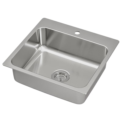 "LÅNGUDDEN Sink, stainless steel, 22x20 5/8 """