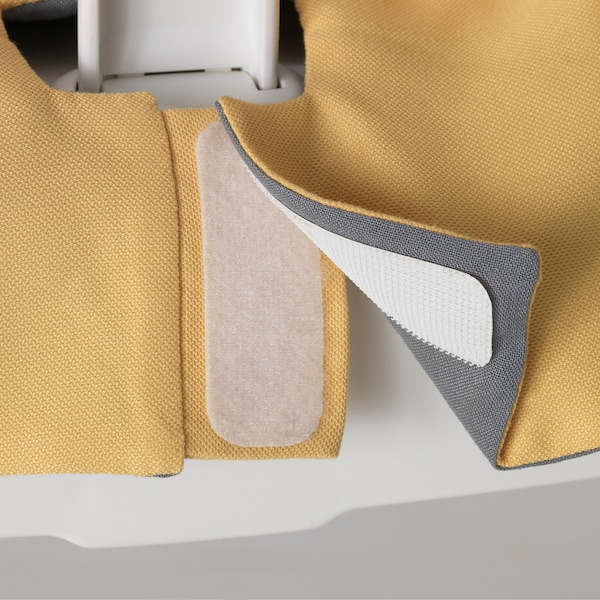 LANGUR Padded seat cover for high chair, yellow