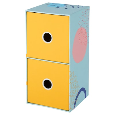 "LANKMOJ mini chest with 2 drawers multicolor 9 ¾ "" 5 "" 5 """