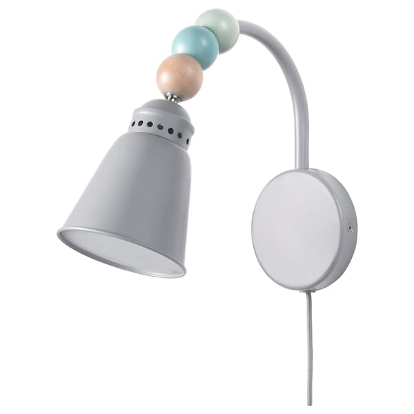 "LANTLIG LED wall lamp gray 9 "" 8 "" 4 "" 5 ' 11 "" 3.4 W"