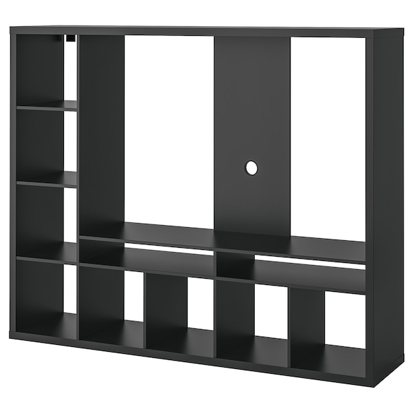 "LAPPLAND TV storage unit, black-brown, 72x15 3/8x57 7/8 """