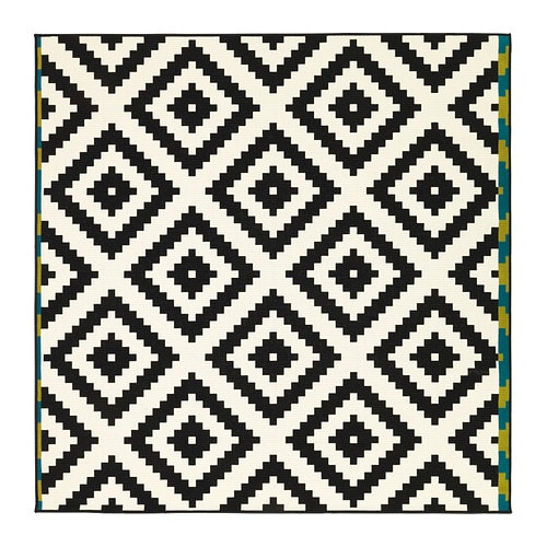 Lappljung ruta rug low pile 6 39 7 x6 39 7 ikea for Outdoor teppich ikea