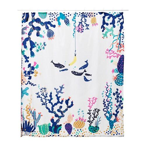 LASJÖN Shower curtain, multicolor multicolor 71x71