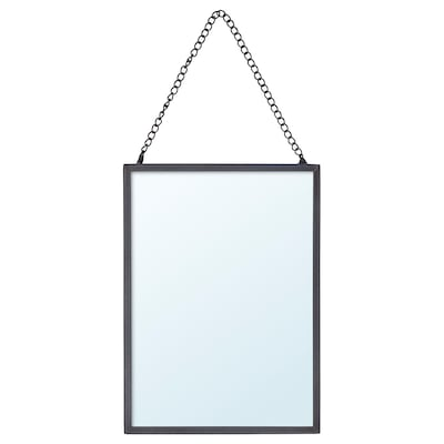 LASSBYN Mirror, dark gray, 5 1/8x7 1/8 ""