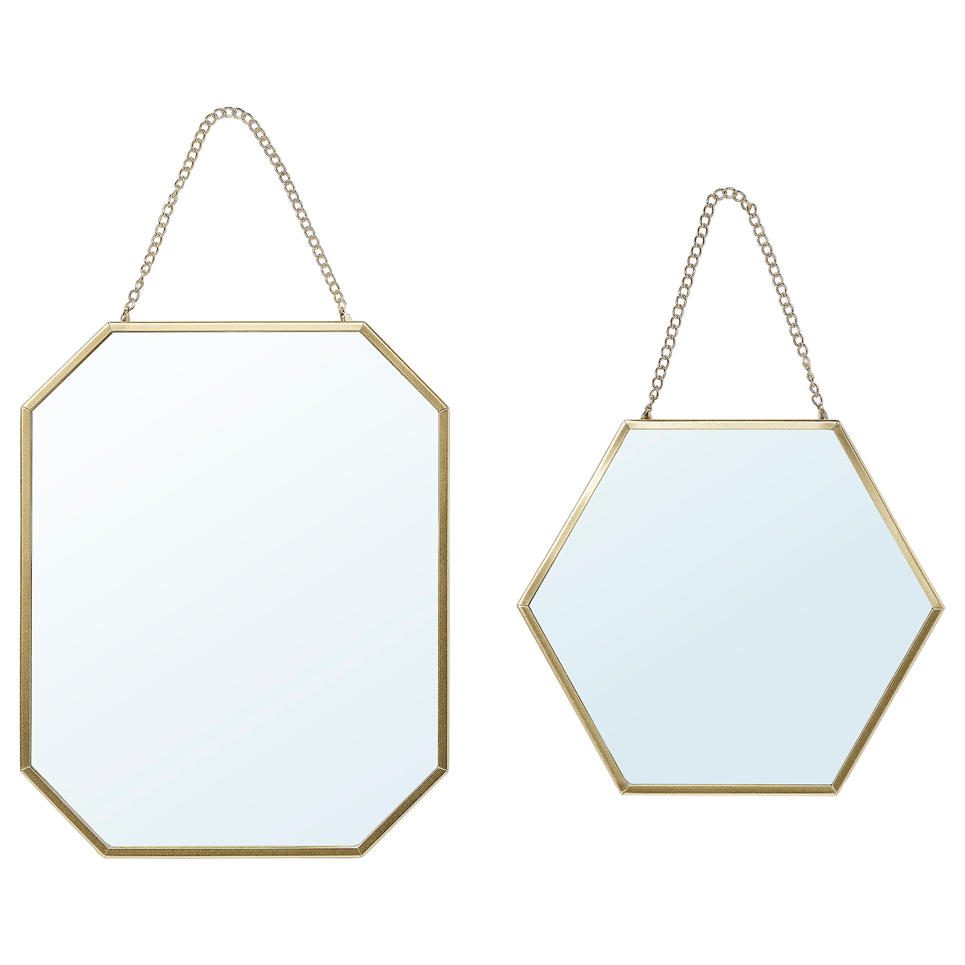 Lassbyn Mirror Set Of 2 Gold Ikea