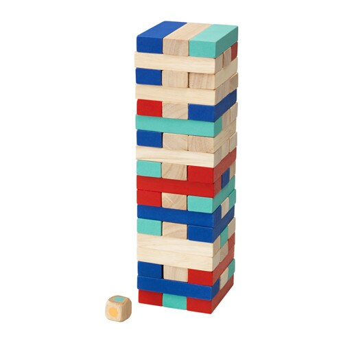 LATTJO Stacking game IKEA Helps the child develop fine motor skills and hand/eye co-ordination.
