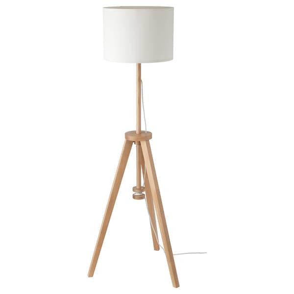LAUTERS Floor Lamp With LED Bulb, Ash, White - IKEA