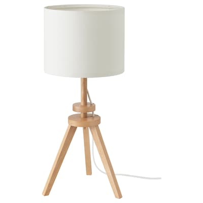 LAUTERS Table lamp with LED bulb, ash/white