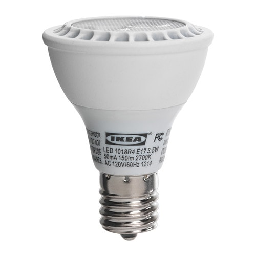 ikea ledare led 3 5 w light bulb e17 reflector r14 20 000. Black Bedroom Furniture Sets. Home Design Ideas
