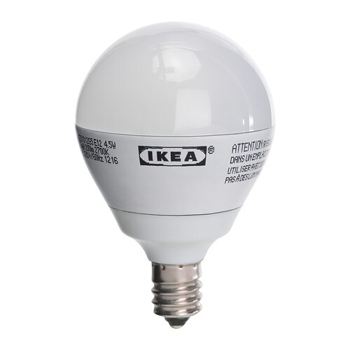 led bulb e12 ikea approximately equal to a 25 watt incandescent bulb. Black Bedroom Furniture Sets. Home Design Ideas