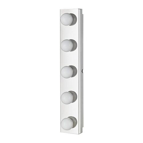 LEDSJÖ LED wall lamp, stainless steel stainless steel 24