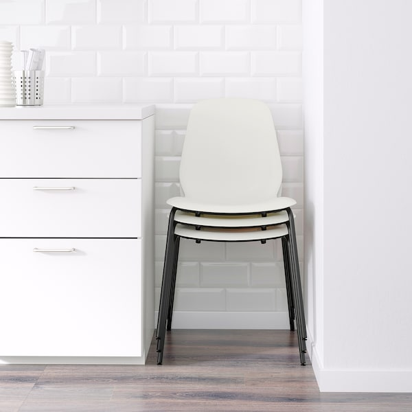 LEIFARNE Chair, white/Broringe black