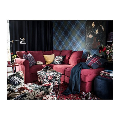 LEIKNY Cushion cover IKEA The cushion cover matches perfectly with EKTORP sofa and arm chair because it is made of the same floral fabric.