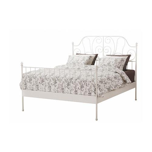 LEIRVIK Bed frame, white, Luröy Queen Luröy