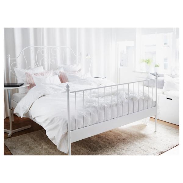 LEIRVIK Bed frame, white, Queen