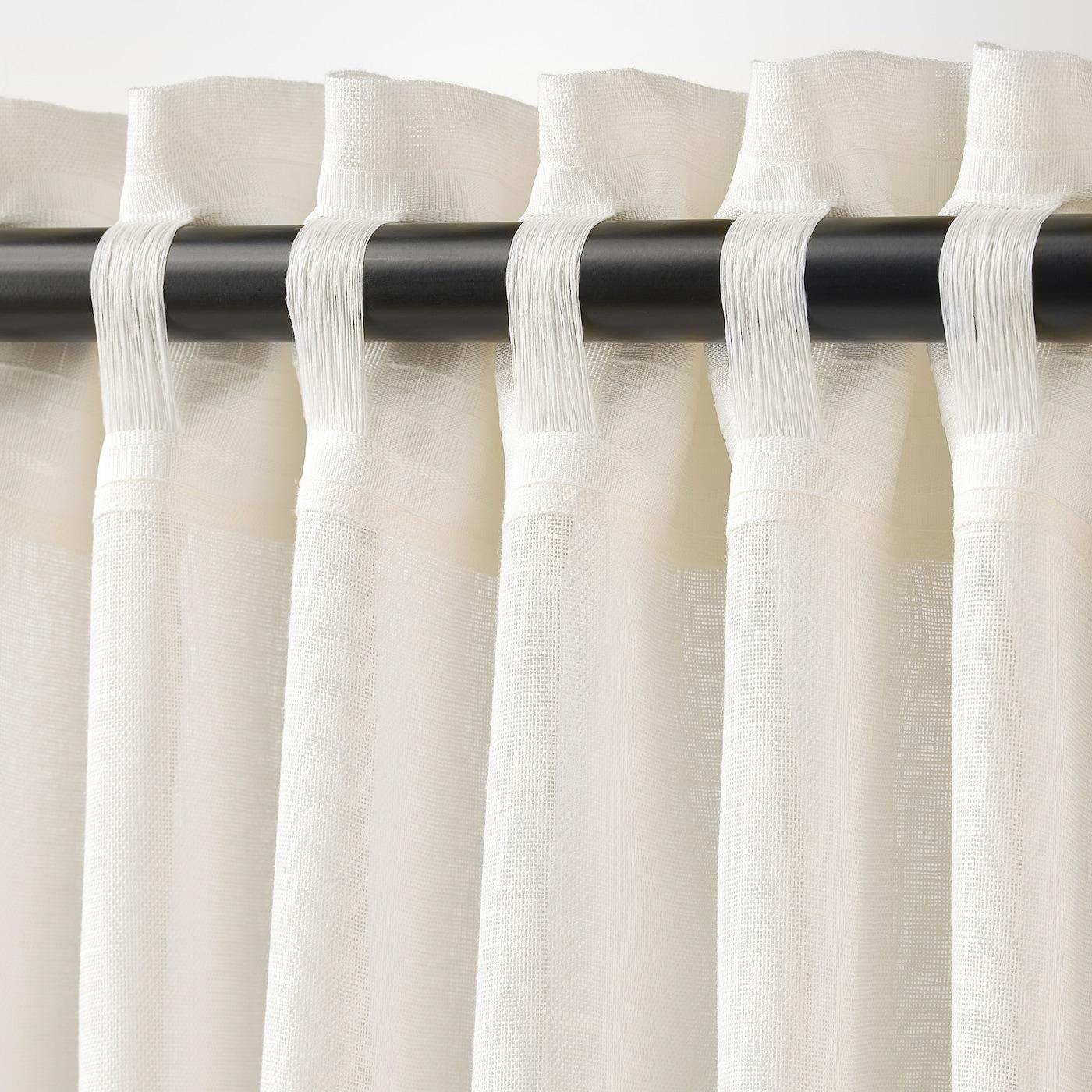 Lejongap Curtains 1 Pair White 57x98
