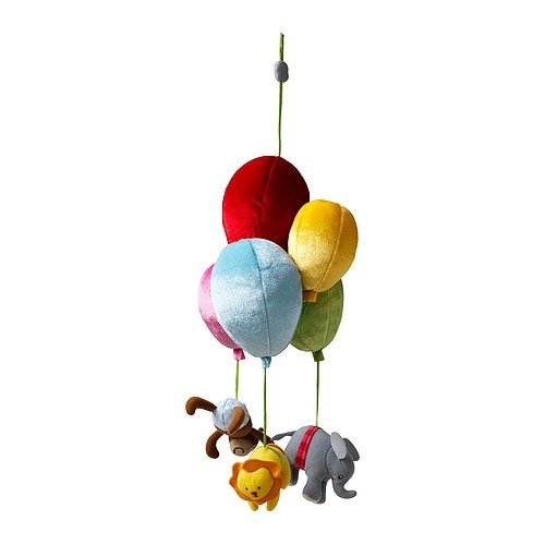 LEKA CIRKUS Mobile IKEA Movement and sharp contrasts stimulate the baby's eyesight.