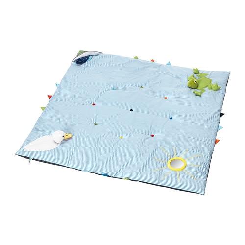 LEKA Play mat, blue blue 46 ½x46 ½