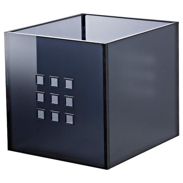 "LEKMAN Box, dark gray, 13x14 ½x13 """