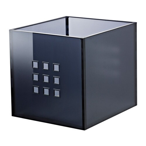 Lekman box dark gray ikea - Boite metal ikea ...