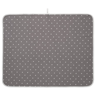 """LEN Changing pad, dotted/gray, 35 3/8x27 1/2 """""""
