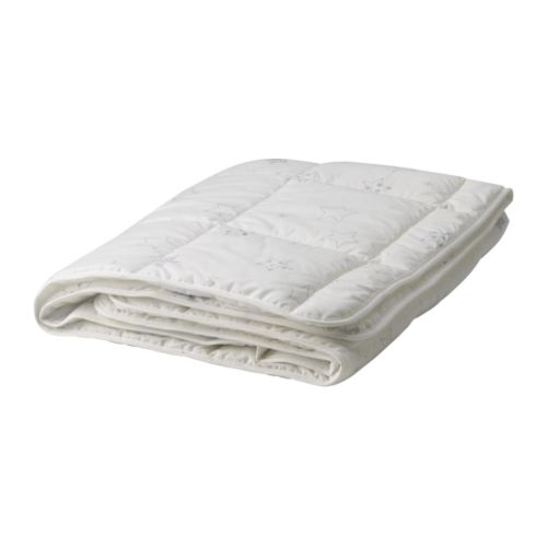 LEN STJÄRNA Crib comforter IKEA Outer fabric in cotton/lyocell, a blend that breathes, absorbs and wicks moisture away.
