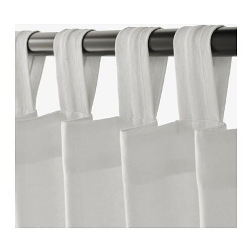 LENDA Curtains with tie-backs, 1 pair - 55x98
