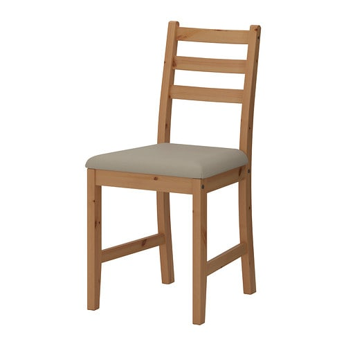 LERHAMN Chair, light antique stain, Vittaryd beige