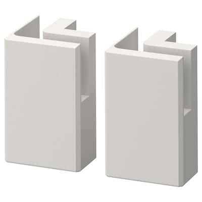"LERHYTTAN Corner leg for decorative toekick, light gray, 4 1/4 "" 2 pack"