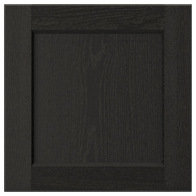 "LERHYTTAN Door, black stained, 15x15 """