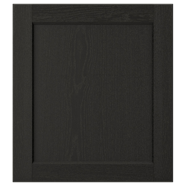 "LERHYTTAN Door, black stained, 18x20 """