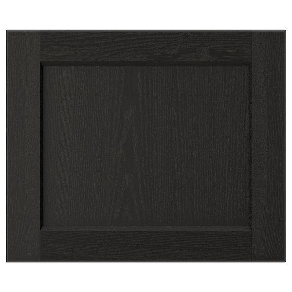 "LERHYTTAN Door, black stained, 18x15 """