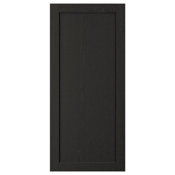 "LERHYTTAN Door, black stained, 18x40 """