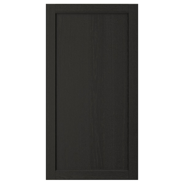 "LERHYTTAN Door, black stained, 21x40 """