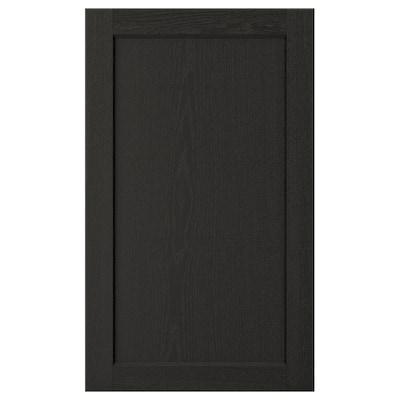 "LERHYTTAN door black stained 17 7/8 "" 30 "" 18 "" 29 7/8 "" 3/4 """