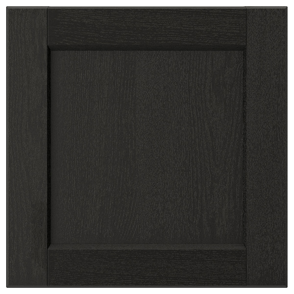 LERHYTTAN Drawer front, black stained, 15x15 ""