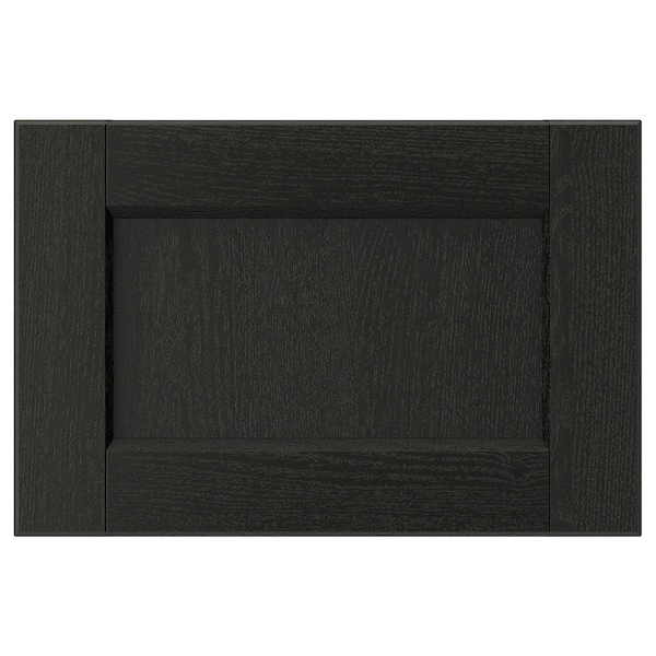 "LERHYTTAN Drawer front, black stained, 15x10 """