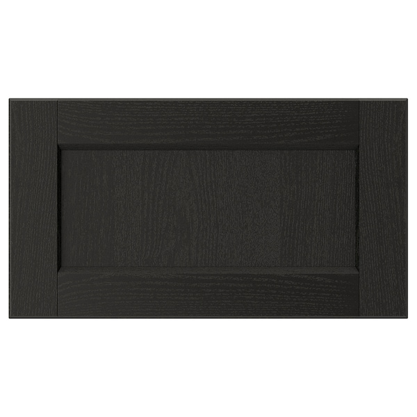 LERHYTTAN Drawer front, black stained, 18x10 ""