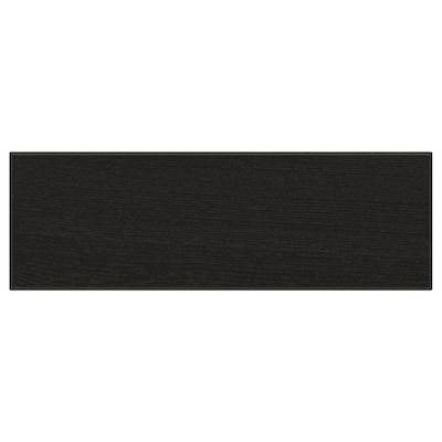 "LERHYTTAN Drawer front, black stained, 15x5 """