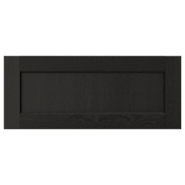 "LERHYTTAN Drawer front, black stained, 24x10 """