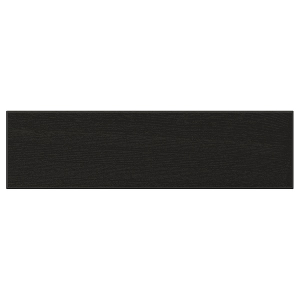 "LERHYTTAN Drawer front, black stained, 18x5 """