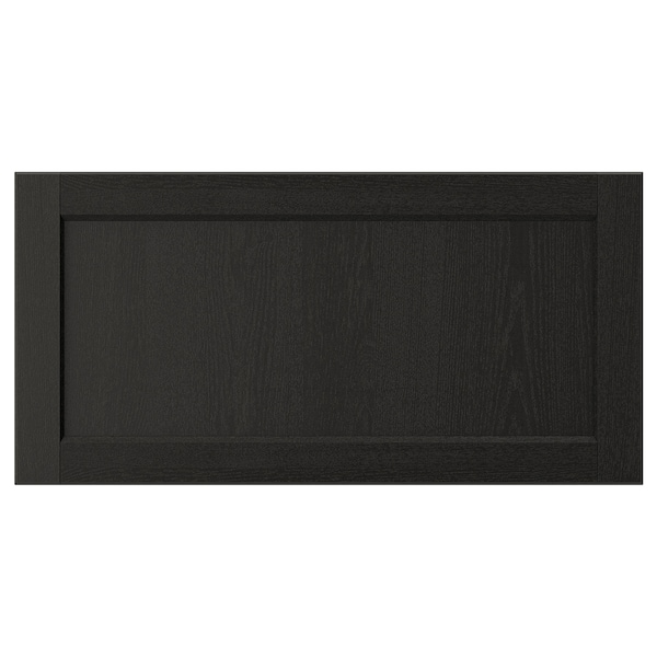 "LERHYTTAN Drawer front, black stained, 30x15 """