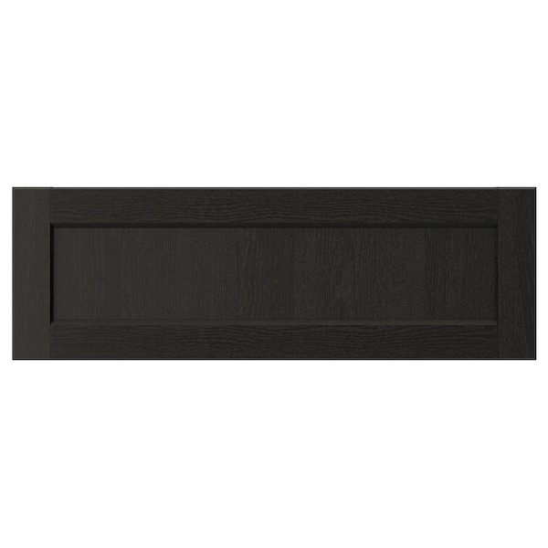 LERHYTTAN Drawer front, black stained, 30x10 ""