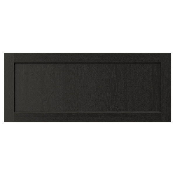 "LERHYTTAN Drawer front, black stained, 36x15 """