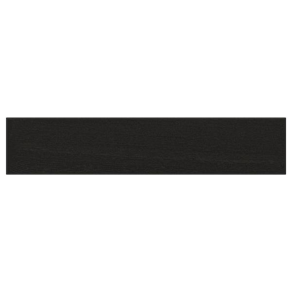 "LERHYTTAN Drawer front, black stained, 24x5 """