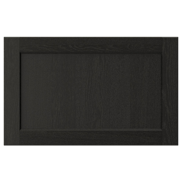 LERHYTTAN Drawer front, black stained, 24x15 ""