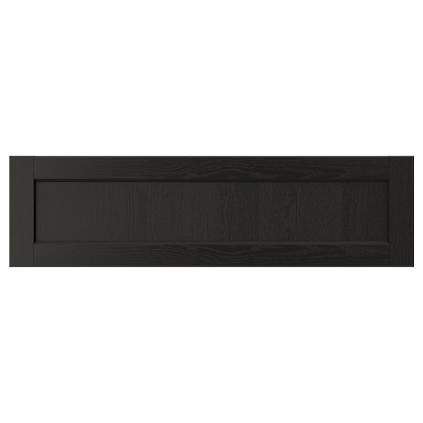 LERHYTTAN Drawer front, black stained, 36x10 ""